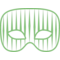 Carnival Mask With Vertical Thin Stripes