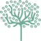 Tree Shape Of Thin Trunk With Small Leaves Circles Outlines