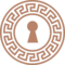 Keyhole Shape With Ornamented Circle Of Indian Design