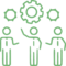 Businessmen Gears Idea Creative Organization Teamwork Partnership