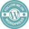 Follow Me On Wordpress Retro Badge