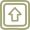 Up Button Hand Drawn Symbol