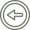 Previous Left Arrow Circular Symbol Outline
