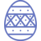 Paschal Egg Decorated Decoration Dots Stripes