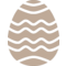 Paschal Egg Decorated Decoration Stripes Waves