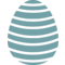 Egg Paschal Decorated Decoration Waves Stripes
