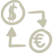 Currencies Exchange Handmade Symbol Of Dollars And Euros