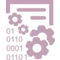 Data Management Interface Symbol With Gears And Binary Code Numbers