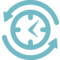 Job Search Symbol Of A Clock With Arrows Circle Around
