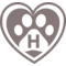 Pet Hotel Symbol Of A Heart With A Pawprint Inside